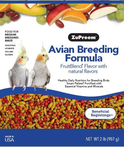 Zupreem Avian Breeding FruitBlend Flavor with Natural Fruit Flavors for  medium birds (M) (2lb/ 907g)